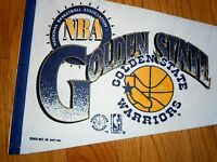 NEW 1990 ~VINTAGE~ DEAD STOCK GOLDEN STATE WARRIORS PENNANT FULL SIZE BASKETBALL