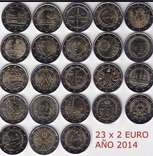 2 € Conmemorativa 2014, Luxemburgo, Malta, Bélgica, Portugal, Mónaco, España...