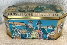 """Rectangular multi-colored Tin 8.75"""" by 4.25"""" tall. German Collectible.Vintage."""