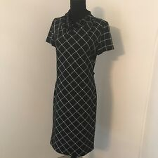 Stripe Office Dress Black