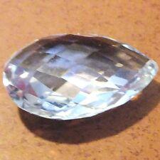 NATURAL DIAMOND WHITE TOPAZ GEMSTONE LARGE FANCY PEAR SHAPE 18.4 x 12.5 mm.