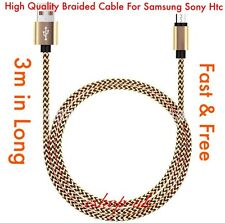 3M USB Charging Cable For Samsung Galaxy S4 S5 S6 S7 Edge A3 A5 A7 J3 J5 J7 Free