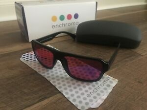 Enchroma Men's Color Blindness Strong Protan Northside Black Outside Glasses