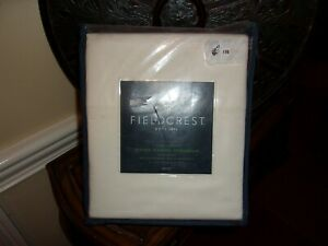 NIP Fieldcrest Ivory Supima Classic Hemstitch 700TC Full Sheet Set 4pc
