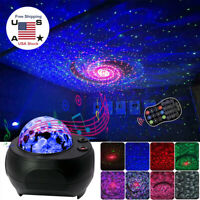 USB Blueteeth LED Galaxy Projector Starry Night Lamp Star Projection Light NEW