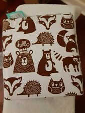 Brown White Children's Pillowfort Forest Friends Queen Sheet Set