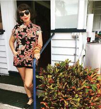Tea Timer Top Silk Hawaiian Vintage Style 1940's/50's Reproduction sizes xs-xl