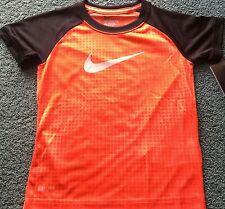 NWT Nike Boys 6 Neon Red/Black/Red/Gray Graphic Print Dri-Fit Shirt 6