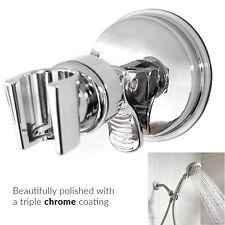 Titular de la cabeza de ducha del cromo baño montado en la pared soporte de montaje ajustable de la succión