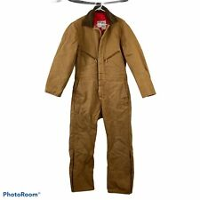Walls Blizzard Pruf Size Large Canvas Insulated Work Hunting Coveralls Tan USA