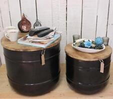 Mesas de color principal negro de metal para el hogar