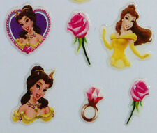 Nail Art 3D Sticker Epoxy Disney Princess Beauty and Beast Belles Rose 34pcs