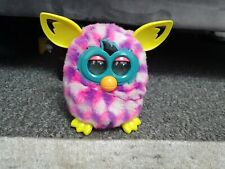 Furby - 2012 Hasbro - Pink / Purple with Yellow Ears - Rare Interactive Toy