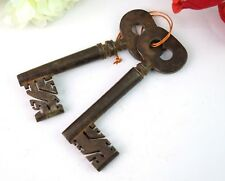 Antique Design Iron Pair Of 2 Skeleton Keys Nice Collective Wall Décor.G2-287 US