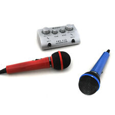 Karaoke Mischpult Mixer Echo Effekt 2 Mikrofon TV Out