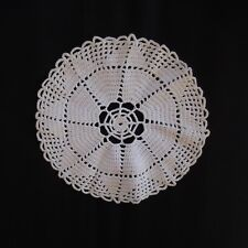 Napperon rond coton linge table fait main au crochet vintage art nouveau France