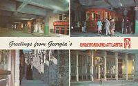 Atlanta, GA - Underground Atlanta - Four Views of Restored Historical Structures
