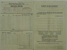PETER PAN BUS LINES VINTAGE DRIVER'S REPORT ENVELOPE, est. 1950s