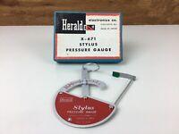 Vintage Herald X-671 Turntable Stylus Pressure Gauge made in Japan