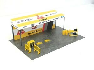Diorama Parts Pit Stop in Scale 1:43 Rally Tent Sport Car Model Display NEW