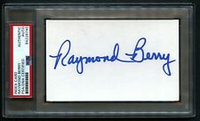 Raymond Berry signed autograph 3x5 index card Football Hall of Fame PSA Slabbed