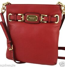 Michael Kors Bag 35F2GHMC3L MK Hamilton Large Leather Crossbody Red Agsbeagle