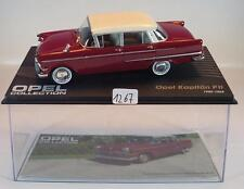 Opel Collection 1/43 Opel Kapitän PII rot 1959 - 1964 in Plexi Box #1267