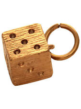 Mirabelle Magic Dice Charm, 22ct Gold Plated, British Made, BNWT, RRP £36