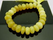 """Natural Yellow Oregon Opal Faceted Rondelle Gemstone 11mm x 6mm Beads Strand 7"""""""