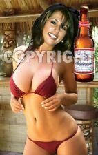 Fridge Magnet Sexy Budweiser Beer Bud cute sexy Kathy busty bikini babe bar art