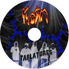 KORN BASS & GUITAR TAB CD TABLATURE GREATEST HITS BEST OF ROCK METAL USA MUSIC