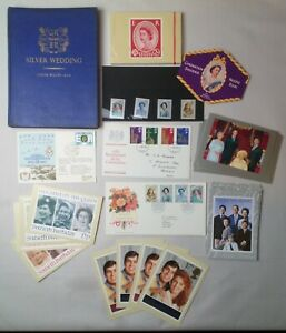 Collection Of Queen Elizabeth Memorabilia Stamps 1st Day Covers PHQ Cards Book