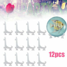"""Lot of 12 Display Stand Easel Plate Holder Picture Photo Art Plastic Foldable 5"""""""