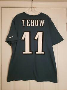Tim Tebow Philadelphia Eagles #11 NFL Nike Tee Athletic Green T-Shirt Men's XL