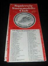 Vintage Wisconsin snowmobile club trail map arctic cat ski doo polaris yamaha 84