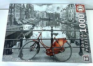 "Educa Amsterdam Puzzle (1000 Piece), Black/White Approximately 26"" x 18"""