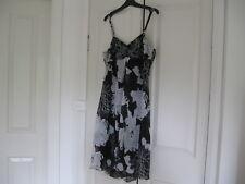 Ladies Dress Design Crossroads Size 12 Colour Black & Light Grey Polyester