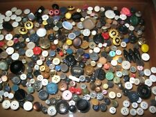 Vintage Sewing Buttons Mixed Lot Vegetable Ivory Fish Eye Celluloid Shell Horn