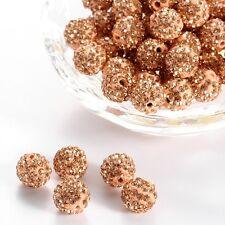 12 unidades pedrería perlas beads perlas Shamballa pfirsichfarbend 10 mm (1351)