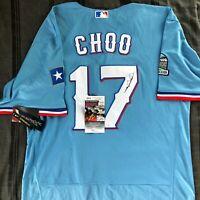 Shin Soo Choo Signed 2020 Blue Jersey Texas Rangers Autographed Auto + JSA COA!