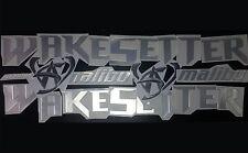 "malibu wakesetter boat Emblem 100"" Stickers Set - Adesivi Barca"
