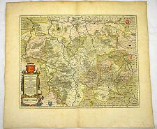 BRAUNSCHWEIG HILDESHEIM GOSLAR ALTKOL KUPFER KARTE GOLDHÖHUNG BLAEU 1662 #D936S