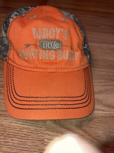 """Bass Pro Shop Gone Hunting Orange/Camo """"Daddys Little Hunting Buddy"""" Toddler Cap"""