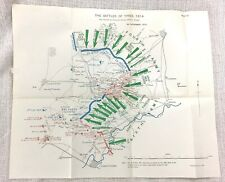 More details for ww1 military map the battle of ypres 6th november 1914 army manoeuvres plans