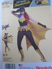 Simplicity 8197 Batgirl Bustier Mask Cape Pants PATTERN Sizes 6-8-10-12-14 NEW
