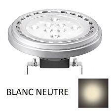 1 AMPOULE SPOT LED G53 / AR111 15W 12V 30° - BLANC NEUTRE 4200K