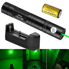 Tactical 532nm Green Laser Pointer Pen 16340 Visible Beam Light +Battery+Charger
