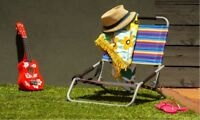 2XBeach Chair Foldable Camping Outdoor Picnic Pool Light Stylish Folding Fishing