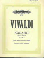 Vivaldi - Konzert a-moll op. 3 Nr. 6 ~ Ausgabe für Violine u. Klavier