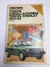 Chilton Toyota Corolla Repair Manual 1970 - 1983 Carina Tercel Starlet #7036